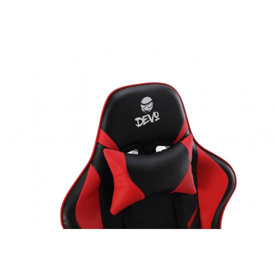 Devo Gaming Chair - Fliktik Carbon Fiber Red