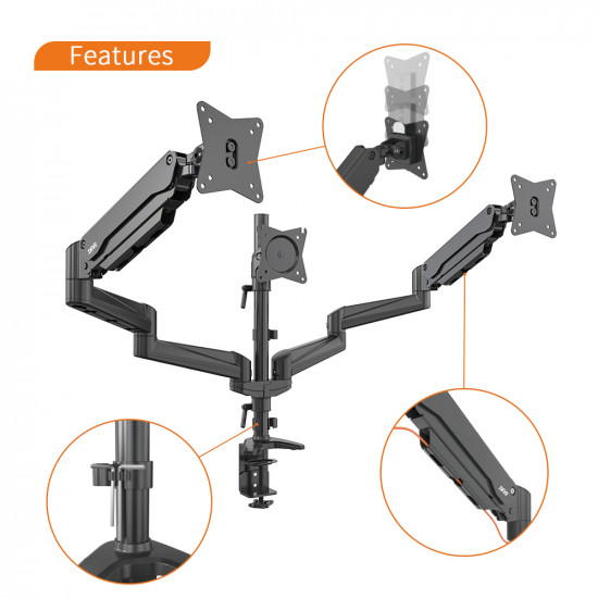 Devo Gaming Monitor Arm - 3 Arms