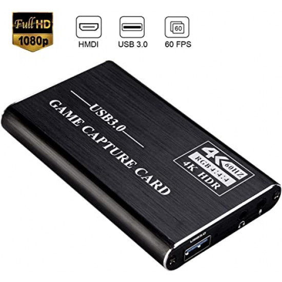 4K USB 3.0 to 2 HDMI Outputs Game Capture