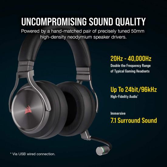 Corsair VIRTUOSO SE RGB Wireless headset - Black