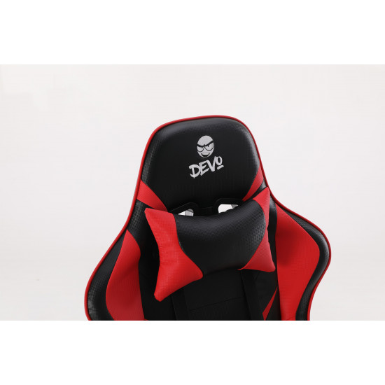 Devo Gaming Chair - Fliktik Carbon Fiber Red