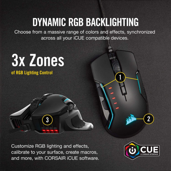 Corsair GLAIVE PRO RGB Gaming Mouse