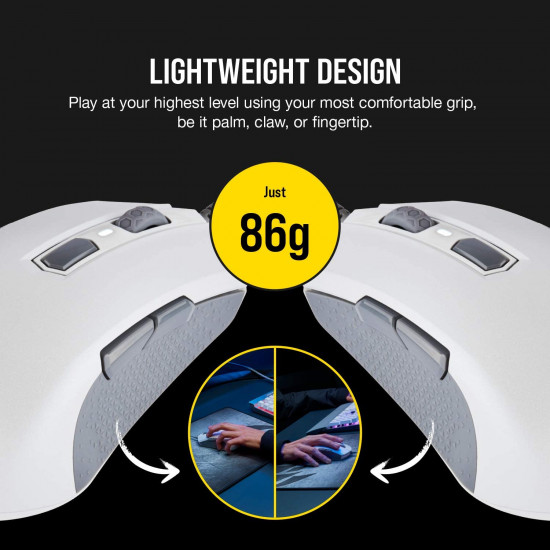 Corsair M55 RGB Pro Wired Multi-Grip Gaming Mouse [White]