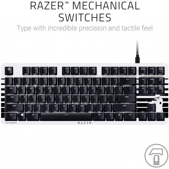 Razer BlackWidow Lite TKL Tenkeyless Mechanical Keyboard - Stormtropper
