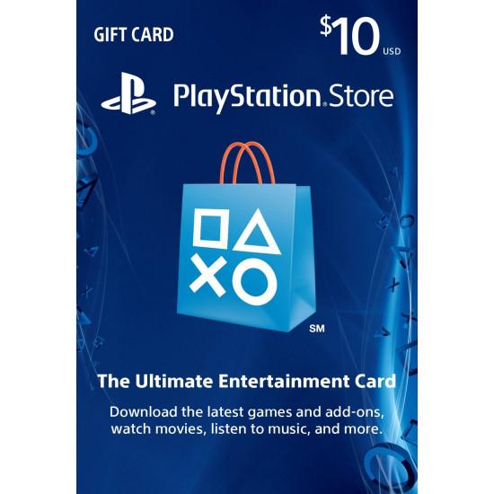 $10 PlayStation Gift Card Digital Code - USA