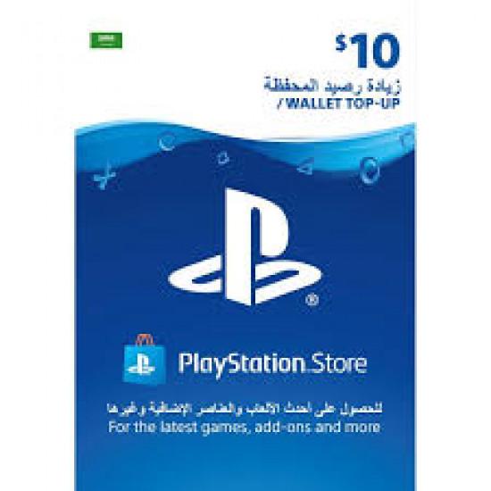$10 PlayStation Gift Card Digital Code - Saudi Arabia