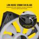Corsair iCUE QL120 RGB 120mm PWM Triple Fan with Lighting Node CORE - Black
