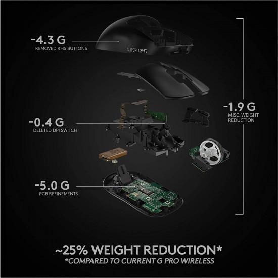 Logitech Pro X Superlight Black Wireless Gaming mouse