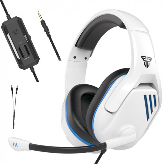 Fantech MH86 Wired Gaming Headphones - white