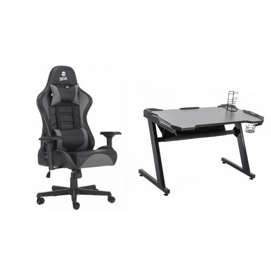 Devo gaming chair bundle [Void Grau + Devo Table 1.0]