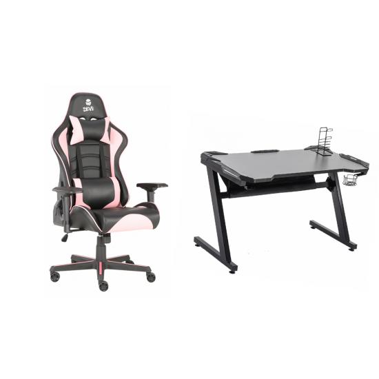 Devo gaming chair bundle [Void Pink + Devo Table 1.0]